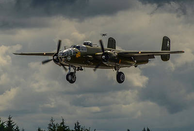 North American B-25j Mitchell Photograph - North American B-25j Mitchell by Puget  Exposure
