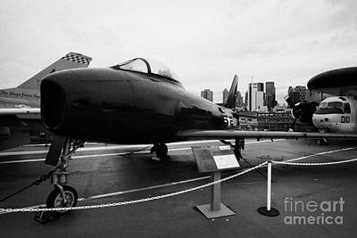 North American Fj3 Fury On Display On The Uss Intrepid Flight Deck At The Intrepid Sea Air Space Mu Art Print by Joe Fox