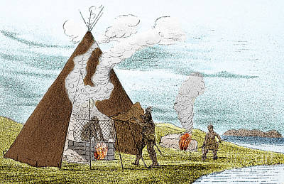 North American Indian Vapor Baths, C Art Print by Science Source