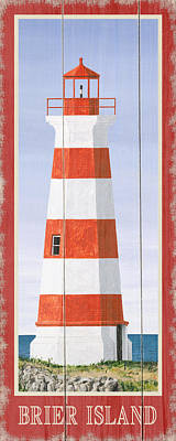 Lake Erie Drawing - North American Lighthouses - Brier by Gail Fraser