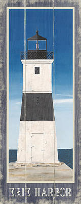 Nauset Beach Drawing - North American Lighthouses - Erie by Gail Fraser