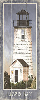 Nauset Beach Drawing - North American Lighthouses - Lewis Bay by Gail Fraser
