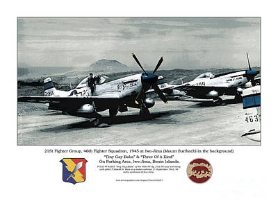 North American P-51d Mustang Art Print by Kenneth De Tore