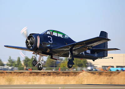 Photograph - North American T-28c Taking Off N28cz by John King
