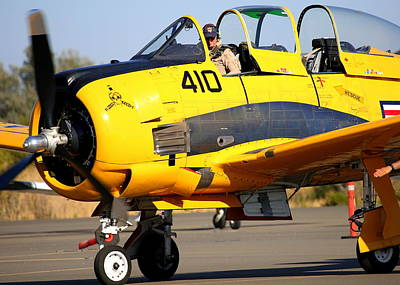 Photograph - North American Trojan T-28b Nx306ww Ready To Taxi by John King