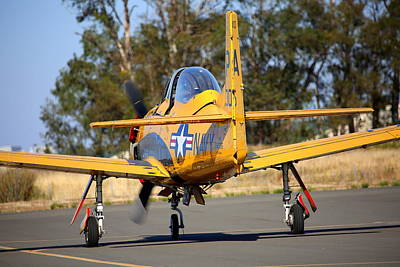 Photograph - North American Trojan T-28b Nx306ww Taxiing by John King