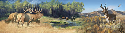 Painting - North American Waterhole by Rob Corsetti