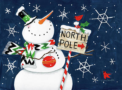 North Pole Painting - North by Anne Tavoletti