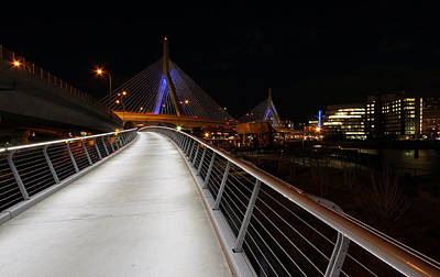 Charles River Photograph - North Bank Bridge by Juergen Roth