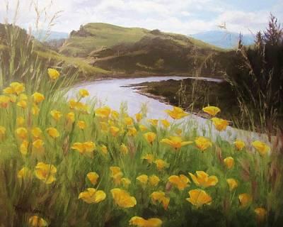 Painting - North Bank Spring by Karen Ilari