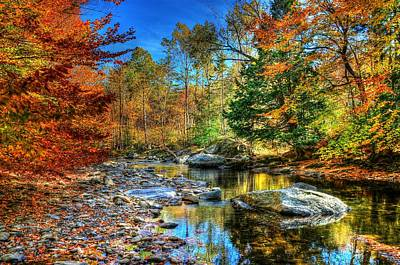 North Branch In Fall Art Print by John Nielsen