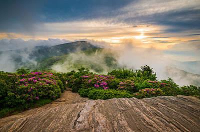 Photograph - North Carolina Appalachian Trail Spring Blue Ridge Mountains by Dave Allen