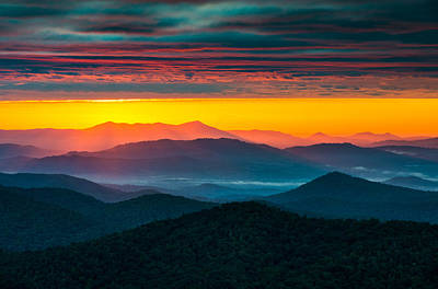 North Carolina Blue Ridge Parkway Morning Majesty Art Print