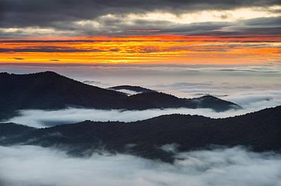 North Carolina Blue Ridge Parkway Sunrise Art Print