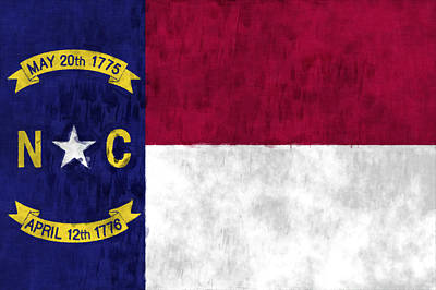 North Carolina Flag Print by World Art Prints And Designs