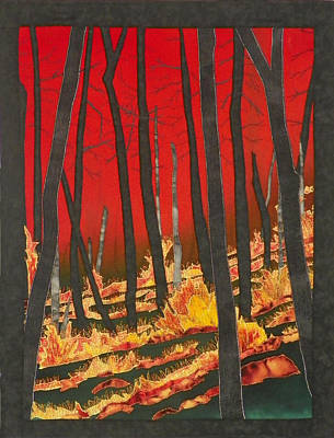 North Carolina Forests Under Fire II Art Print by Jenny Williams