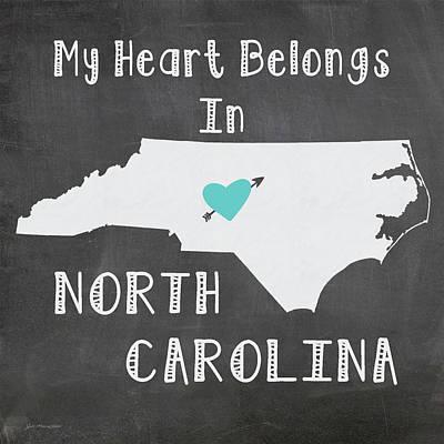 North Carolina Art Print by Jo Moulton