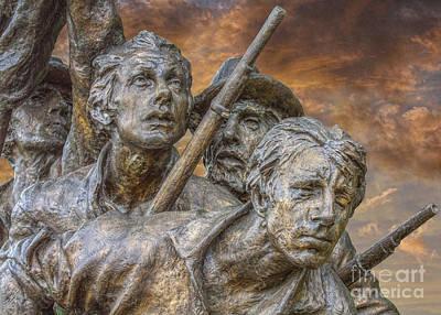 North Carolina Memorial At Gettysburg Art Print by Randy Steele