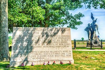 Photograph - North Carolina Memorial Gettysburg Battleground by Bob and Nadine Johnston
