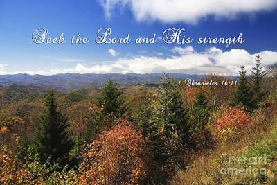 Photograph - North Carolina Mountains With Scripture by Jill Lang