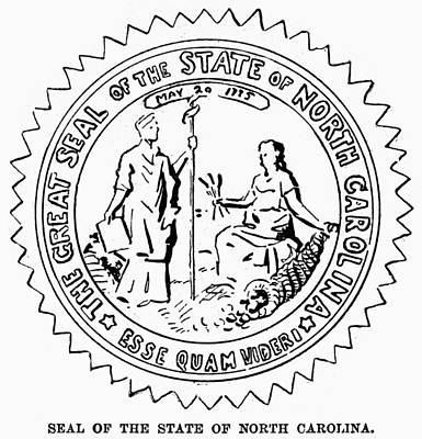 Cornucopia Painting - North Carolina State Seal by Granger