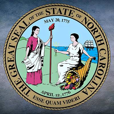 North Carolina State Seal Art Print