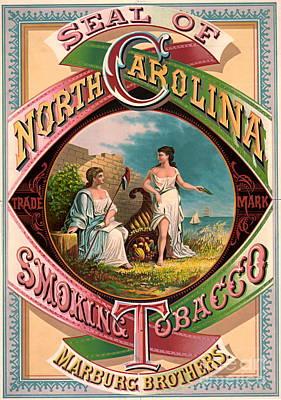 Cornucopia Photograph - North Carolina Tobacco Ad 1879 by Padre Art