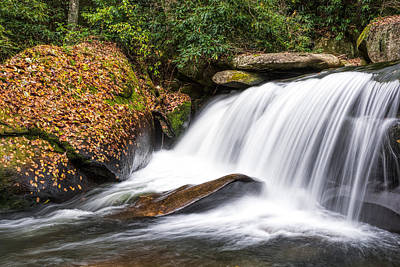 Photograph - North Carolina Water Fall by Dustin Ahrens