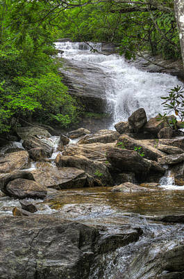 Photograph - North Carolina Waterfall by Michael Colgate