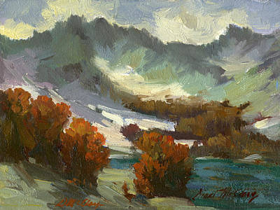 North Cascades Painting - North Cascades Autumn by Diane McClary
