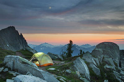 Photograph - North Cascades Backcountry Camp by Alan Majchrowicz