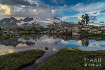 Photograph - North Cascades Tarn Reflection by Mike Reid