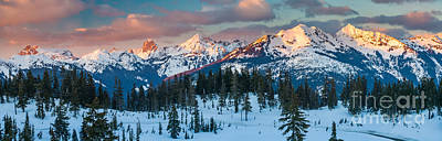 North Cascades Winter Panorama Art Print by Inge Johnsson