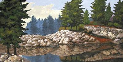 Sunset Painting - North Channel Reflections by Michael Swanson