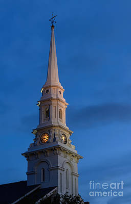 Photograph - North Church Steeple by Sharon Seaward