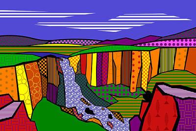 North Clear Creek Falls Art Print by Randall Henrie