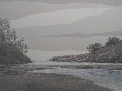 Painting - North Coast Inlet by John  Svenson