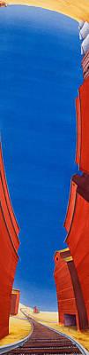 Grain Elevator Wall Art - Painting - North Dakota Dreamscape II by Scott Kirby