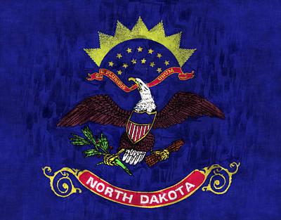 North Dakota Flag Art Print
