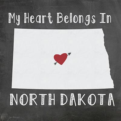 North Dakota Art Print by Jo Moulton