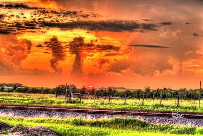 North Dakota Sky Original by Pam Parton