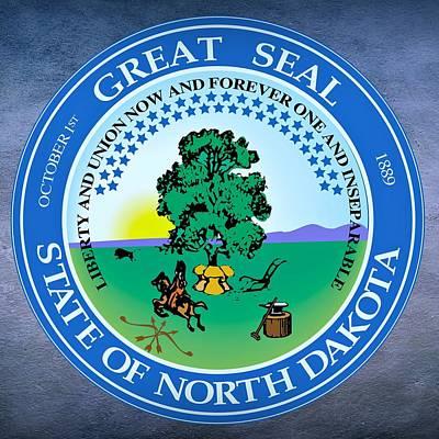 North Dakota State Seal Art Print