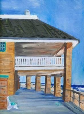 North Sea Painting - North End Pavilion In Spring Lake by Elizabeth Stader