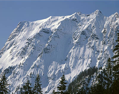 Impressionist Landscapes - 1M4443-North Face of Big Four Mountain by Ed  Cooper Photography