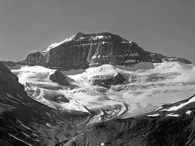 Photograph - 1m3667-bw-north Face Of Mt. Saskatchewan by Ed  Cooper Photography