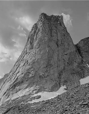 Photograph - 109649-bw-north Face Pingora Peak, Wind Rivers by Ed  Cooper Photography