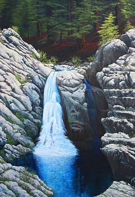 North Fork Painting - North Fork Falls by Tom Joslin