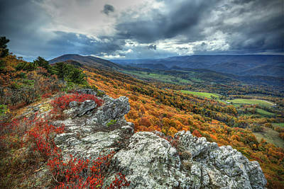 North Fork Mountain Overlook Art Print by Jaki Miller