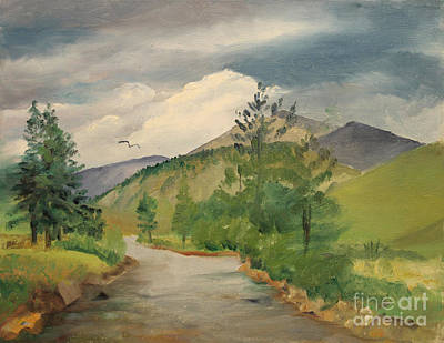 North Fork Painting - North Fork Of The South Platte - Shawnee Co  1980's by Art By Tolpo Collection
