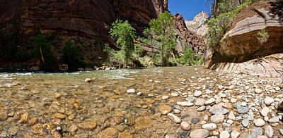 North Fork Of The Virgin River, Zion Art Print